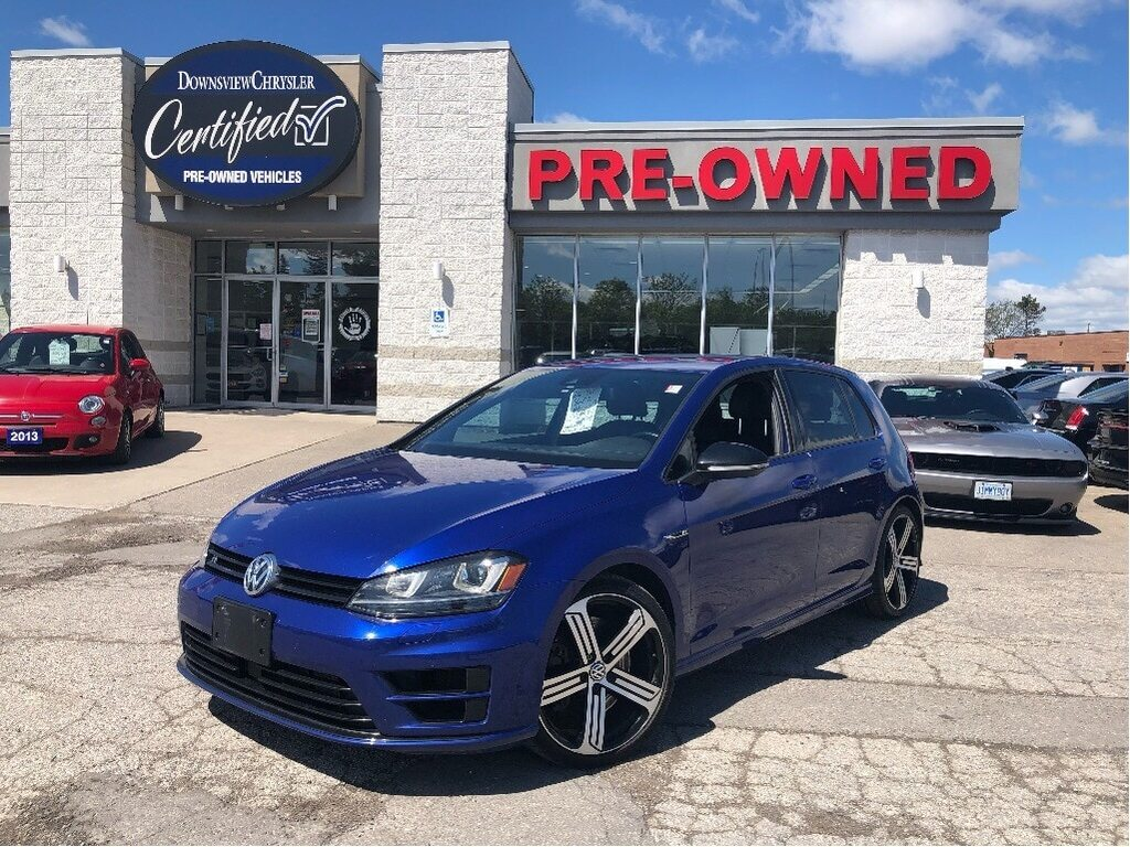 2016 Volkswagen Golf R 2.0 TSI w/ Leather Heated Seats, NAV, Backup Camer Sedan