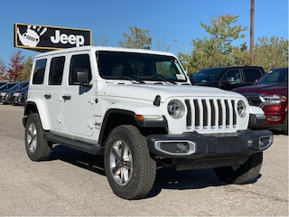 2021 Jeep Wrangler Unlimited Sahara - Leather, B/C Hardtop, LED Lighting, SafetyTec, Cold Weather, NAV/Sound