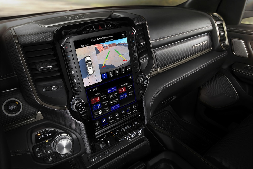 2020 Ram 1500 interior dash with screen