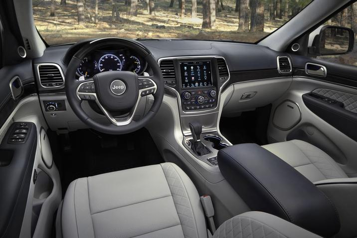 Habitacle du Jeep Grand Cherokee Summit 2017