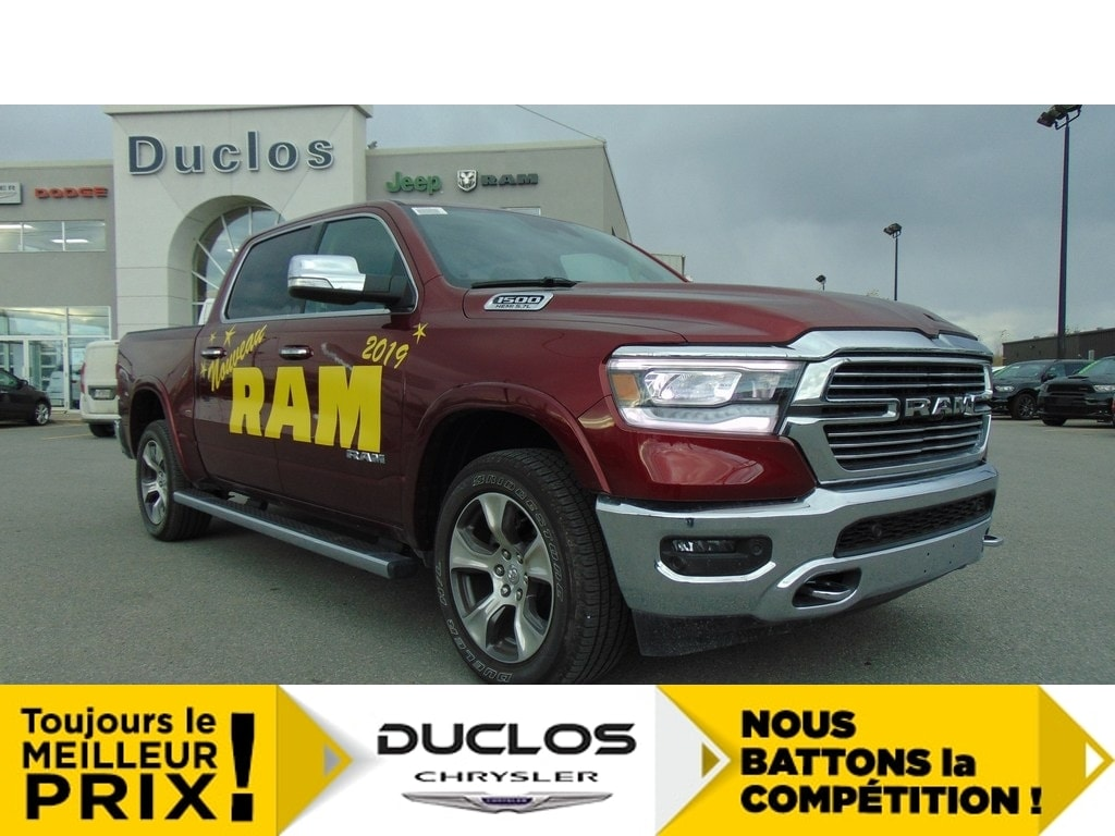 2019 Ram 1500 Laramie*Mags 20*NAV*Cuir* Camion cabine Crew