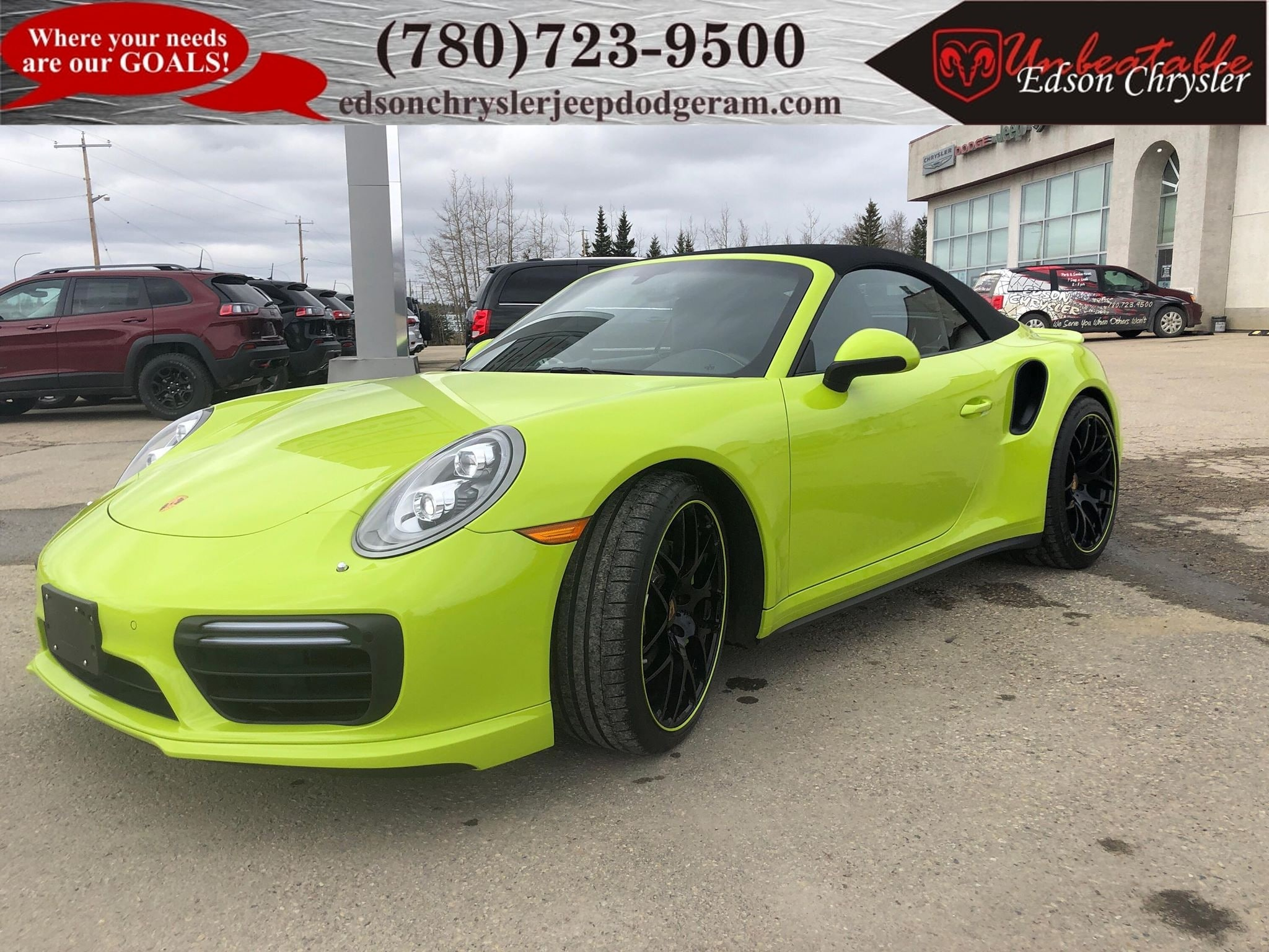 2017 Porsche 911 Turbo - Paint To Sample Acid Green Convertible