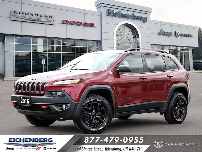 2016 Jeep Cherokee Trailhawk 4X4 *ONE OWNER* SUV