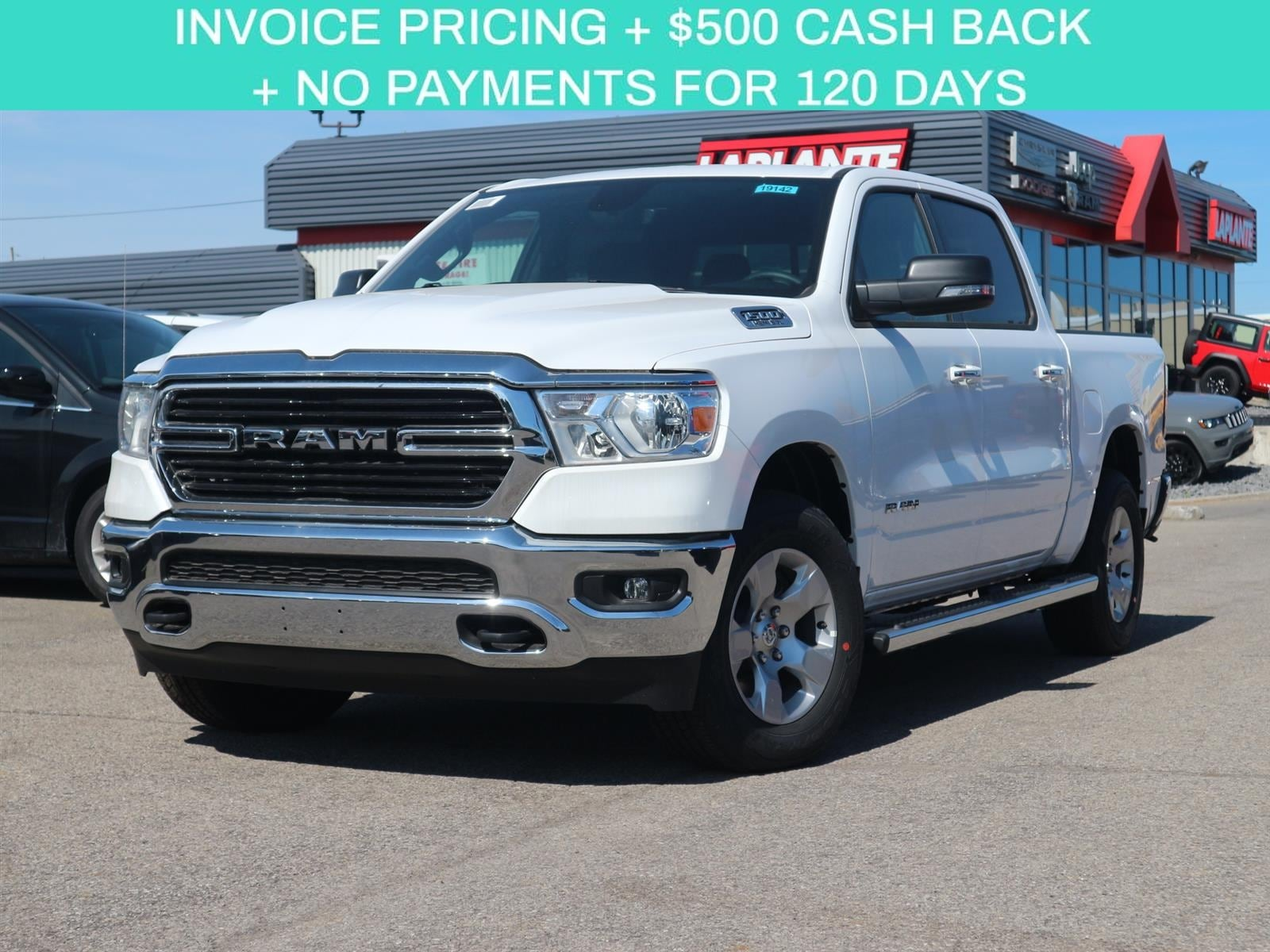 Featured new 2019 Ram All-New 1500 Big Horn Pickup Truck 19142 for sale in Embrun, ON