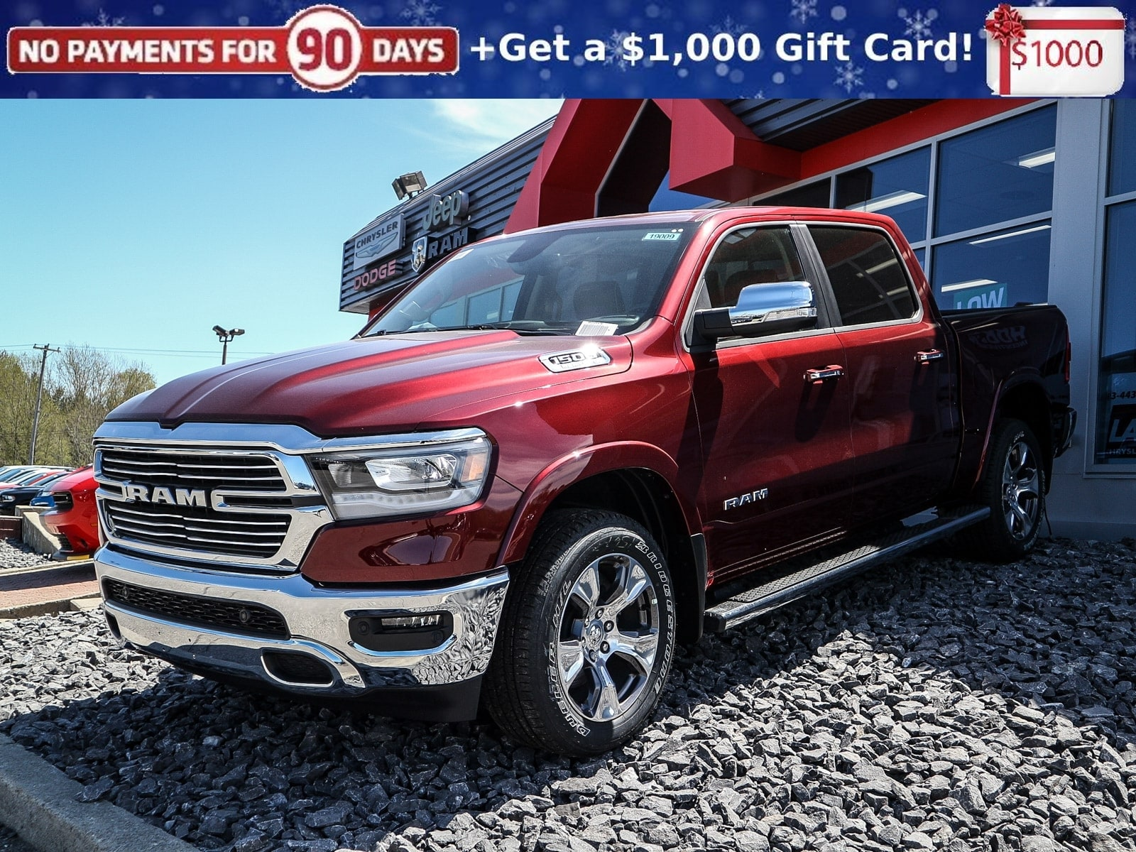 Featured new 2019 Ram All-New 1500 Laramie Pickup Truck 19009 for sale in Embrun, ON