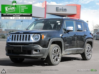2018 Jeep Renegade LIMITED 4X4 / LEATHER / UCONNECT 8.4 NAVI / 2.4L M SUV