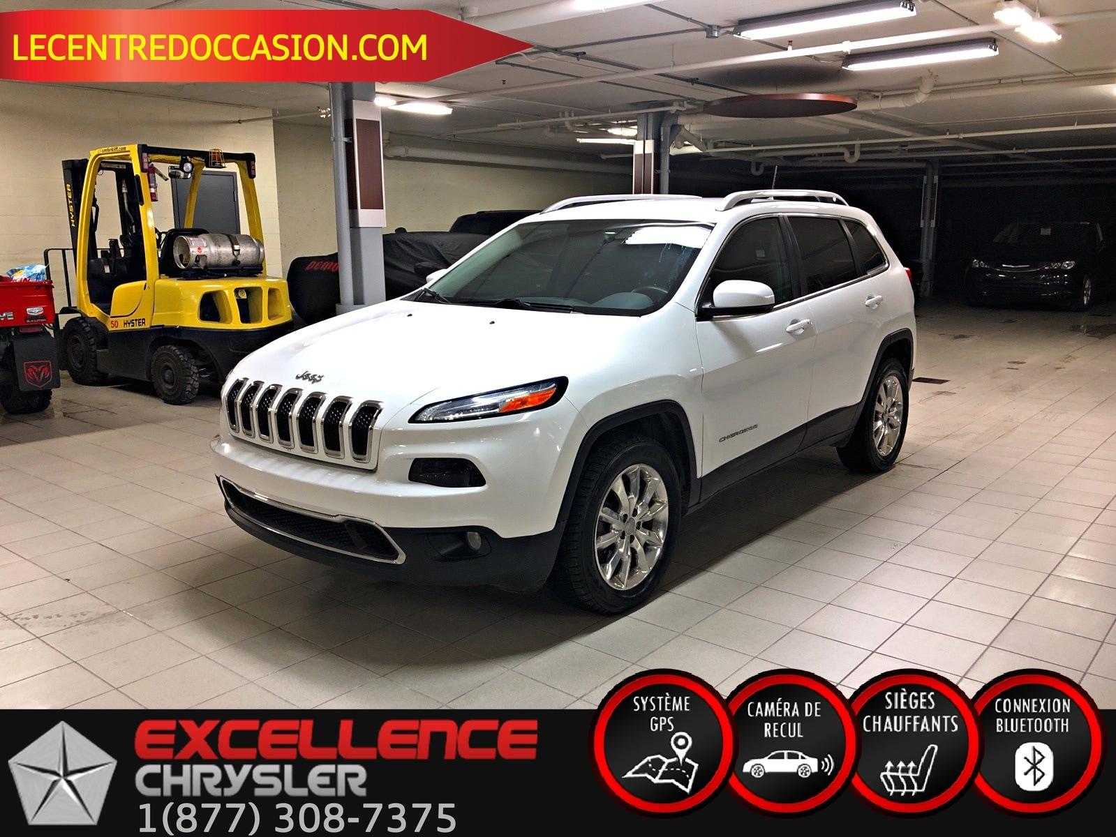 2016 Jeep Cherokee Limited 4X4 *CUIR/NAV/CAMERA/HITCH* VUS