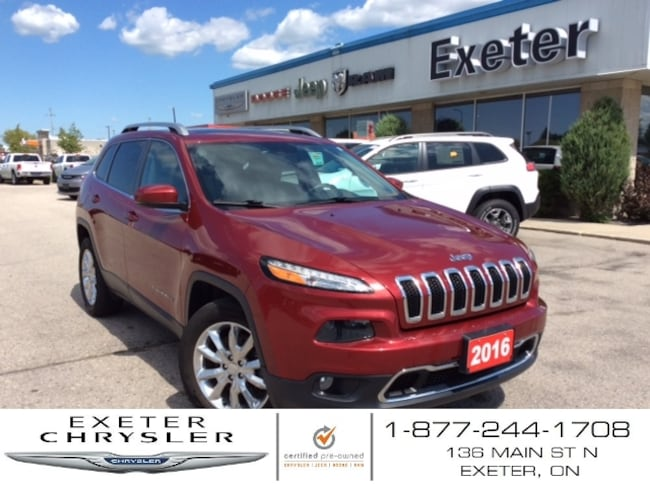 2016 Jeep Cherokee Limited 4x4 V6 l Leather l One Owner SUV