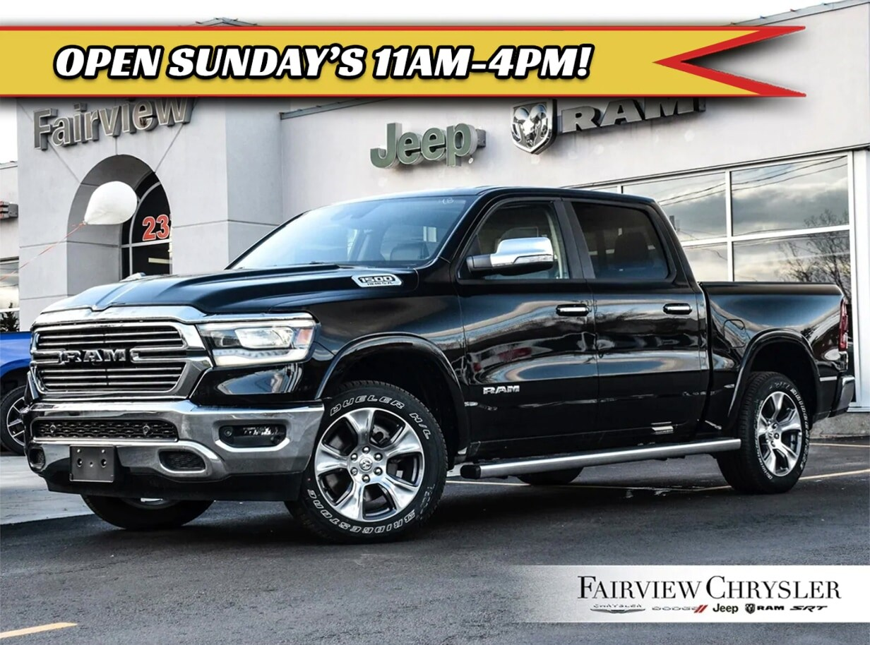 2019 Ram All-New 1500 Laramie Truck Crew Cab l SAFETY GRP l 12 INCH SCREEN l SUNROOF l
