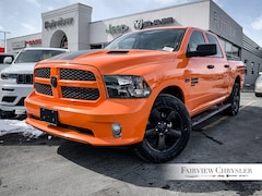 2019 Ram 1500 Classic Express Ignition Orange Truck Crew Cab   8.4 INCH DISPLAY   SIDE STEPS   HITCH   SPRAY-IN  