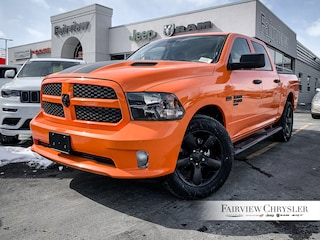 2019 Ram 1500 Classic Express Ignition Orange Truck Crew Cab | 8.4 INCH DISPLAY | SIDE STEPS | HITCH | SPRAY-IN |