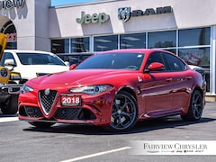 2018 Alfa Romeo Giulia Quadrifoglio l NAV l HEATED SEATS l Sedan