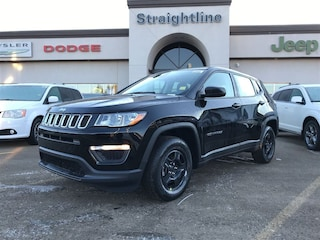 New 2018 Jeep Compass Sport SUV 3C4NJCAB1JT210888 18055 Diamond Blk Crystal Prl for Sale in Fort Saskatchewan