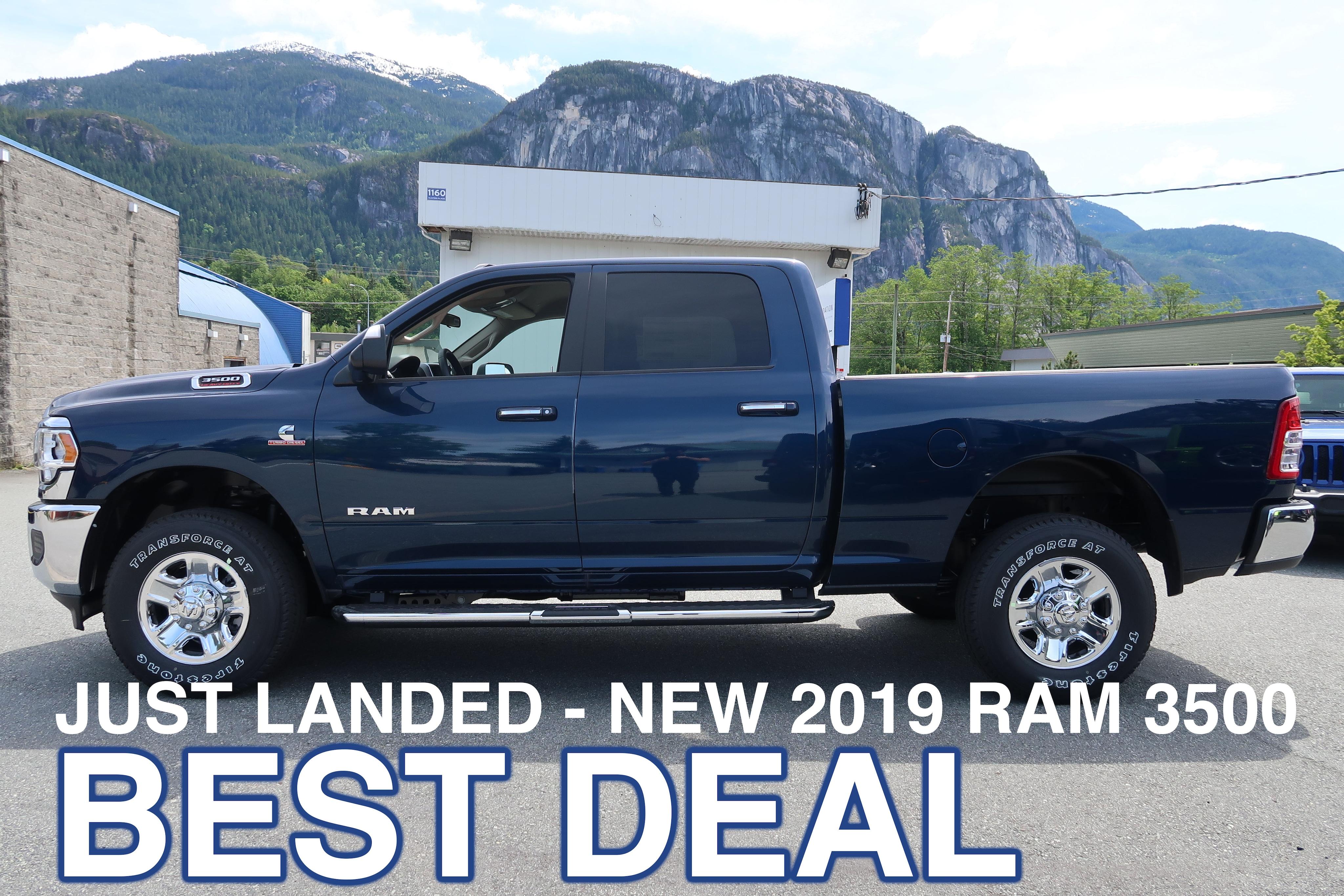 2019 Ram New 3500 Big Horn Truck Crew Cab