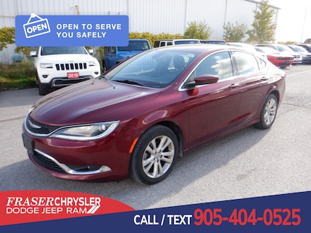 Used 2016 Chrysler 200 Limited LIMITED, KEYLESS ENTRY, BLUETOOTH,  CLEAN CARFAX SEDAN . for sale in Oshawa, ON