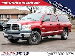 Pre-Owned 2008 Dodge RAM 1500 QUAD CAB HEMI, BOX CAP, RUNNING BOARDS, YOU CERTIFY YOU SAFE EXTENDED CAB PICKUP for sale in Oshawa, ON
