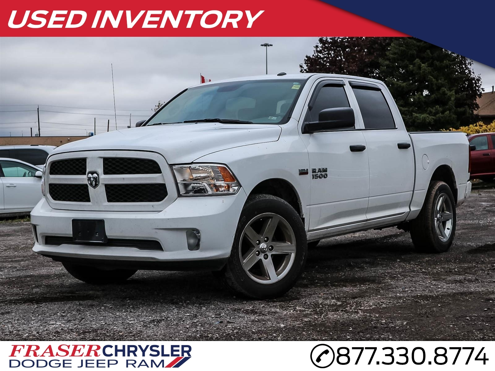 Featured Used 2017 Ram 1500 CREW EXPRESS 20 INCH RIMS, COLOUR  MATCHING FRONT AND REAR BUMP for sale in Oshawa, ON