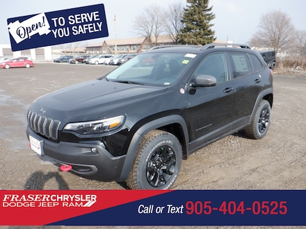 Used 2021 Jeep Cherokee Trailhawk SPORT UTILITY for sale in Oshawa, ON