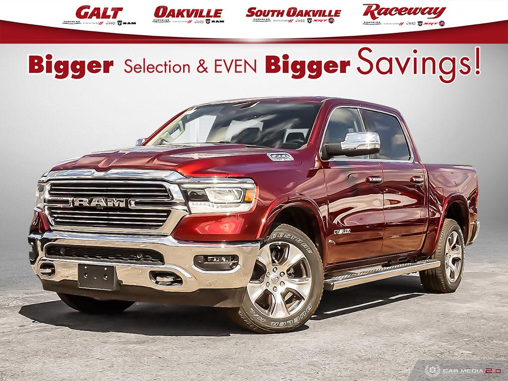 2019 Ram All-New 1500 LARAMIE CREW 4X4 | LEATHER NAV UCONNECT SUNROOF Truck Crew Cab