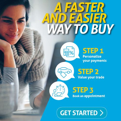 How to shop from home stop 1-Personalize Your Payments 2-Value Your Trade 3- Book an appointment. Get Started!
