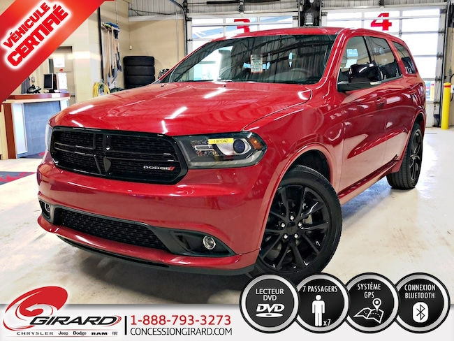 2018 Dodge Durango GT*BLACKTOP*DVD*TOIT*GPS*7 PASSAGERS* VUS