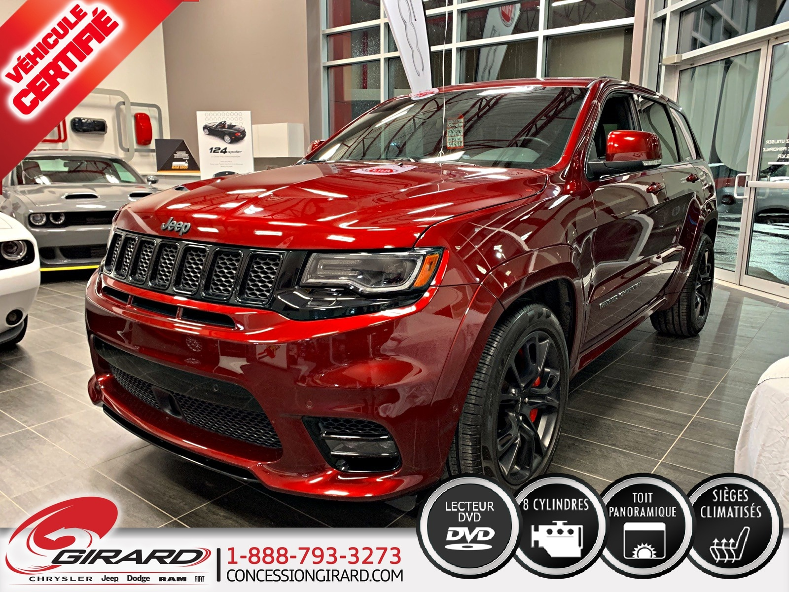 Jeep Grand Cherokee SRT*DVD*NAV*TOIT PANO*HARMAN/KARDON* 2017