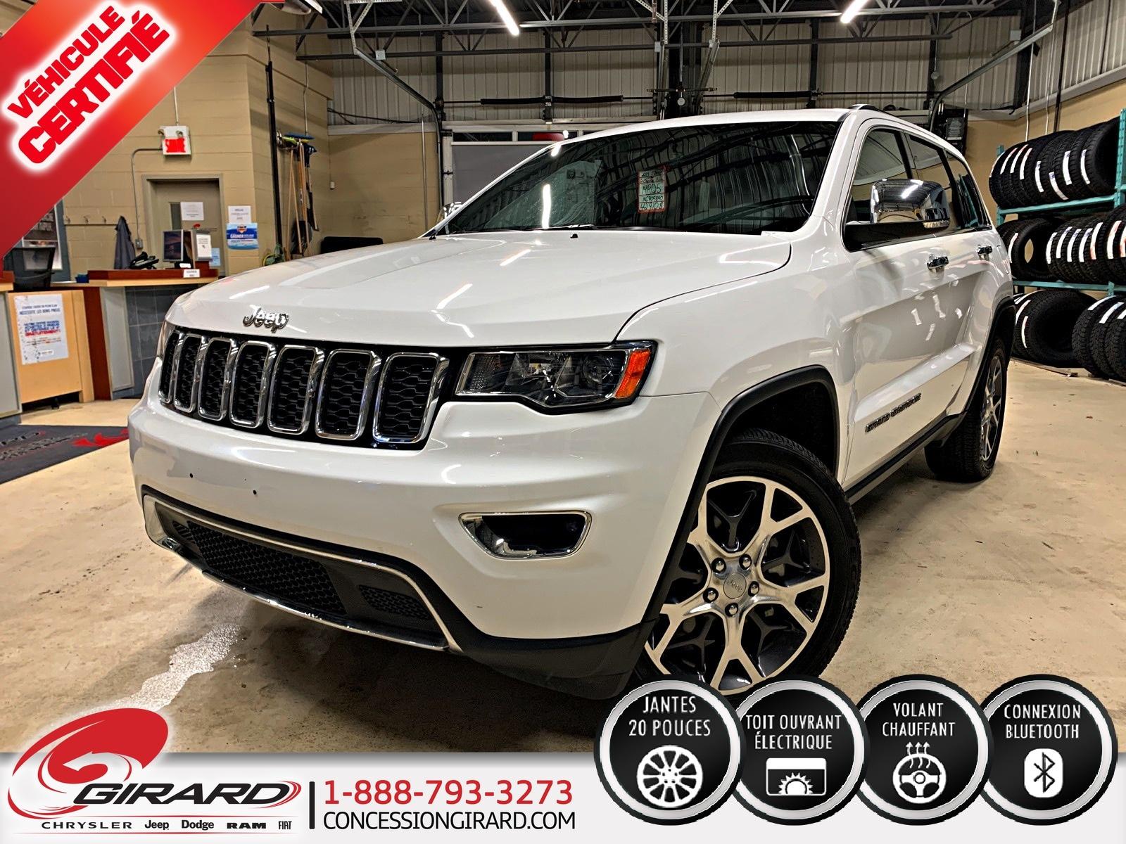 Jeep Grand Cherokee LIMITED*NAV*TOIT*MAGS 20''*BLUETOOTH*4X4/AWD* 2019