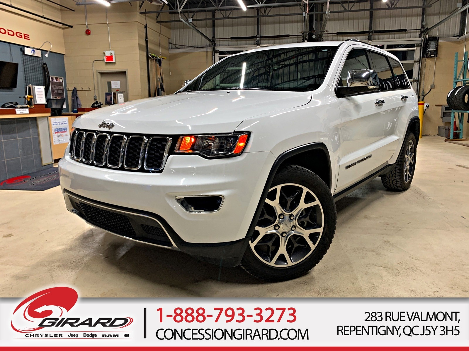 Jeep Grand Cherokee LIMITED*TOIT*NAV*MAGS 20''*DÉMARREUR*4X4/AWD* 2019