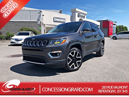 2019 Jeep Compass LIMITED*CUIR*TOIT PANO*NAV*4X4*MAGS 19''* VUS
