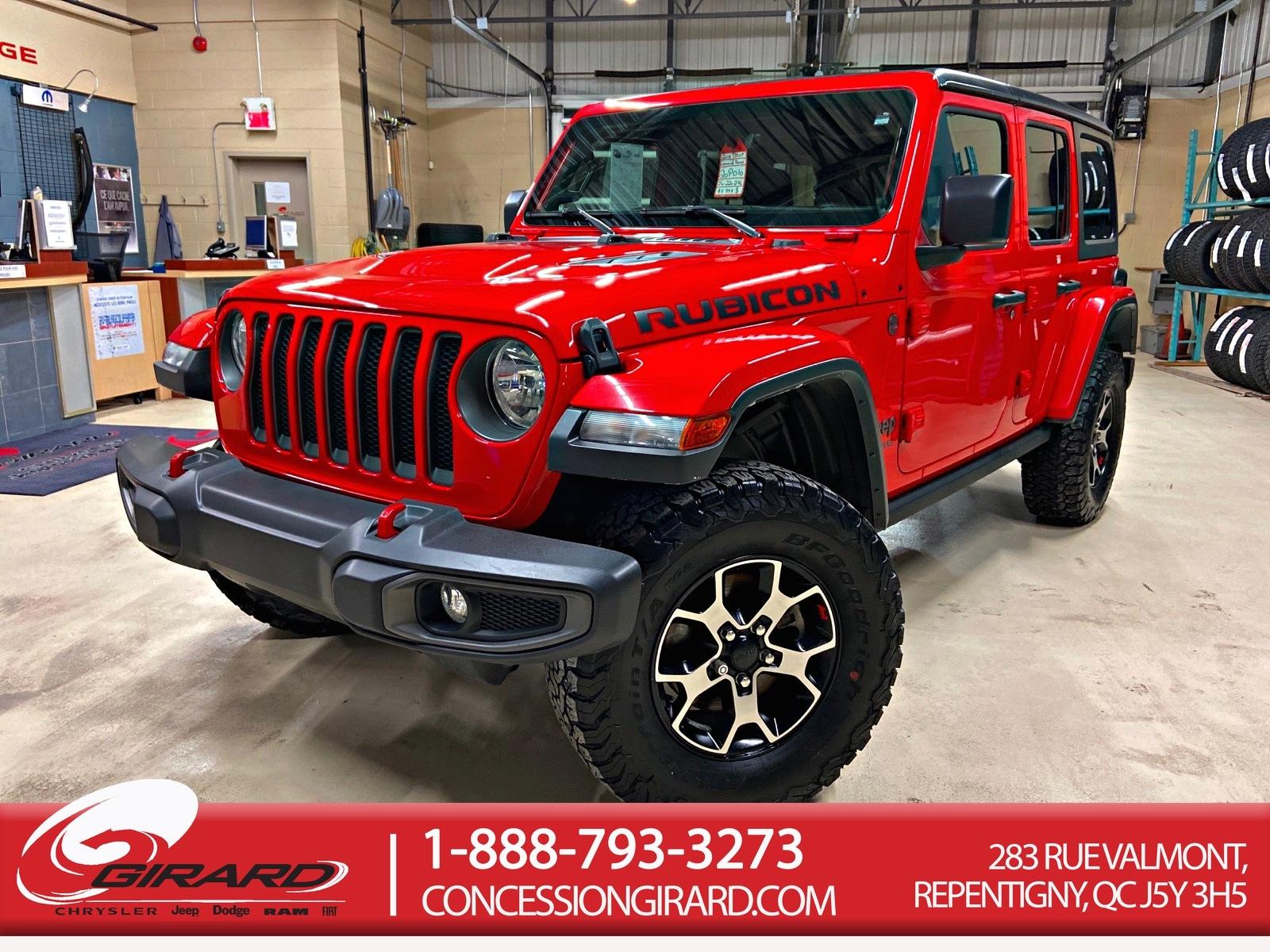 Jeep Wrangler Unlimited *RUBICON*NAV*ALPINE*VOLANT ET SIEGES CHAUFFAN 2018
