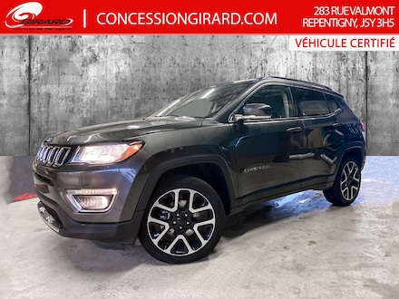 2019 Jeep Compass LIMITED*CUIR*TOIT PANO*NAV*4X4*MAGS 19''* 4x4
