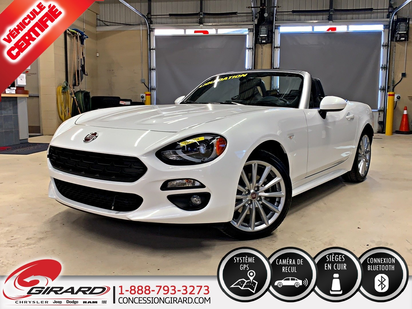 Fiat 124 Spider LUSSO*PLAN OR 5 ANS/100 000 KM*CUIR*GPS* 2017
