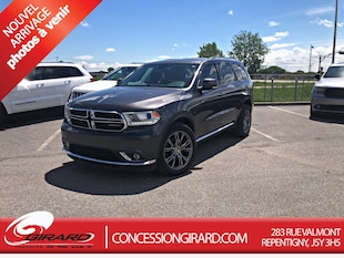 2016 Dodge Durango LIMITED**TOIT+DVD+MAGS 20'' SRT+PLAN OR** SUV