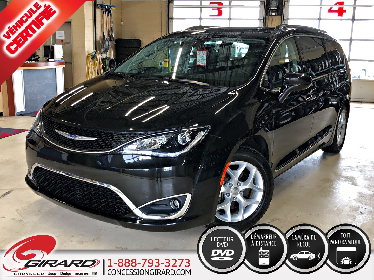 Chrysler Pacifica TOURING-L PLUS*TOIT PANO*DVD*CUIR*7 PASS* 2018