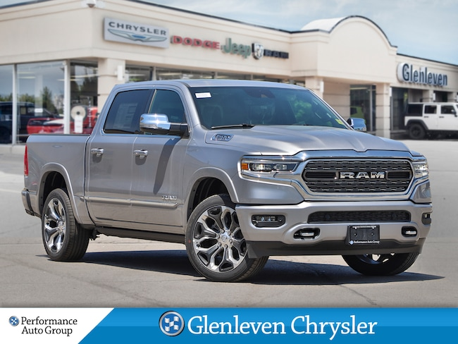 2019 Ram All-New 1500 Limited pano roof 12inch screen leather Truck Crew Cab