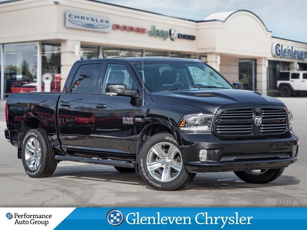 2017 Ram 1500 Sport Leather Navi Sunroof 3.92 Rear Axle Ratio Crew Cab