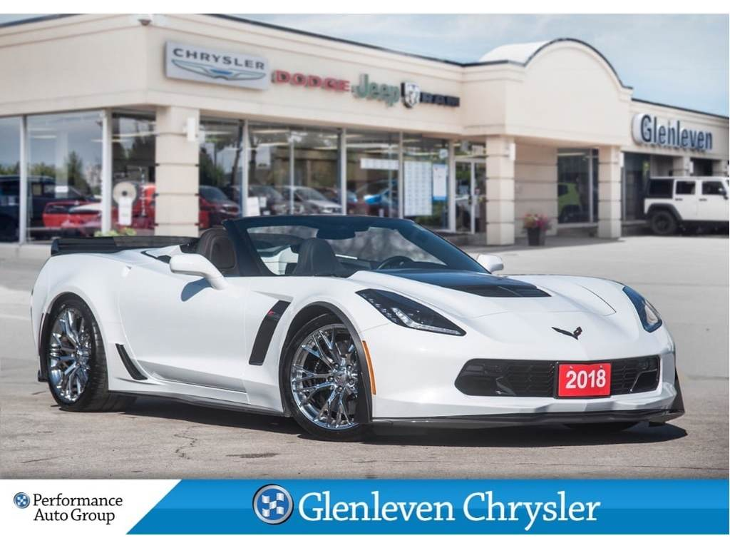 2018 Chevrolet Corvette Z06 3LZ Visible Carbon Fibre Ground Effects Pkg Coupe