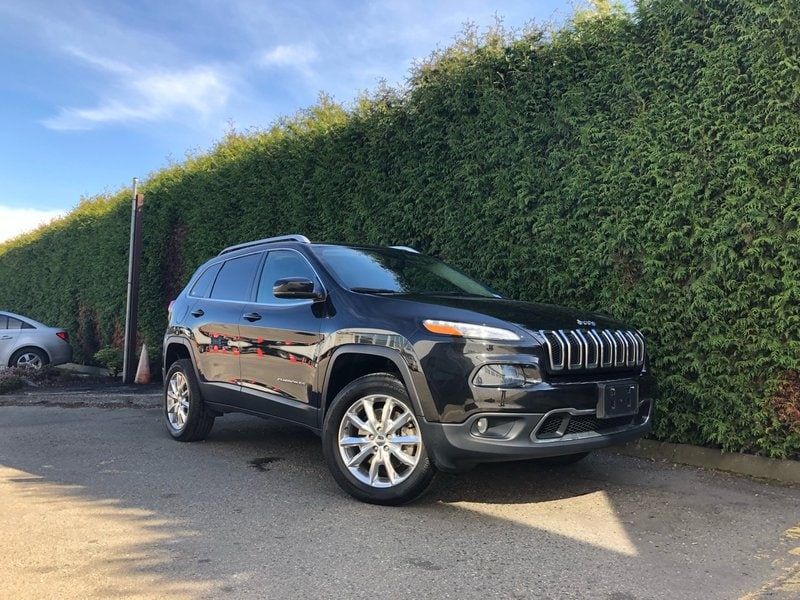 2015 Jeep Cherokee Limited 4WD + Leather Heated FT Seats + Navigation SUV