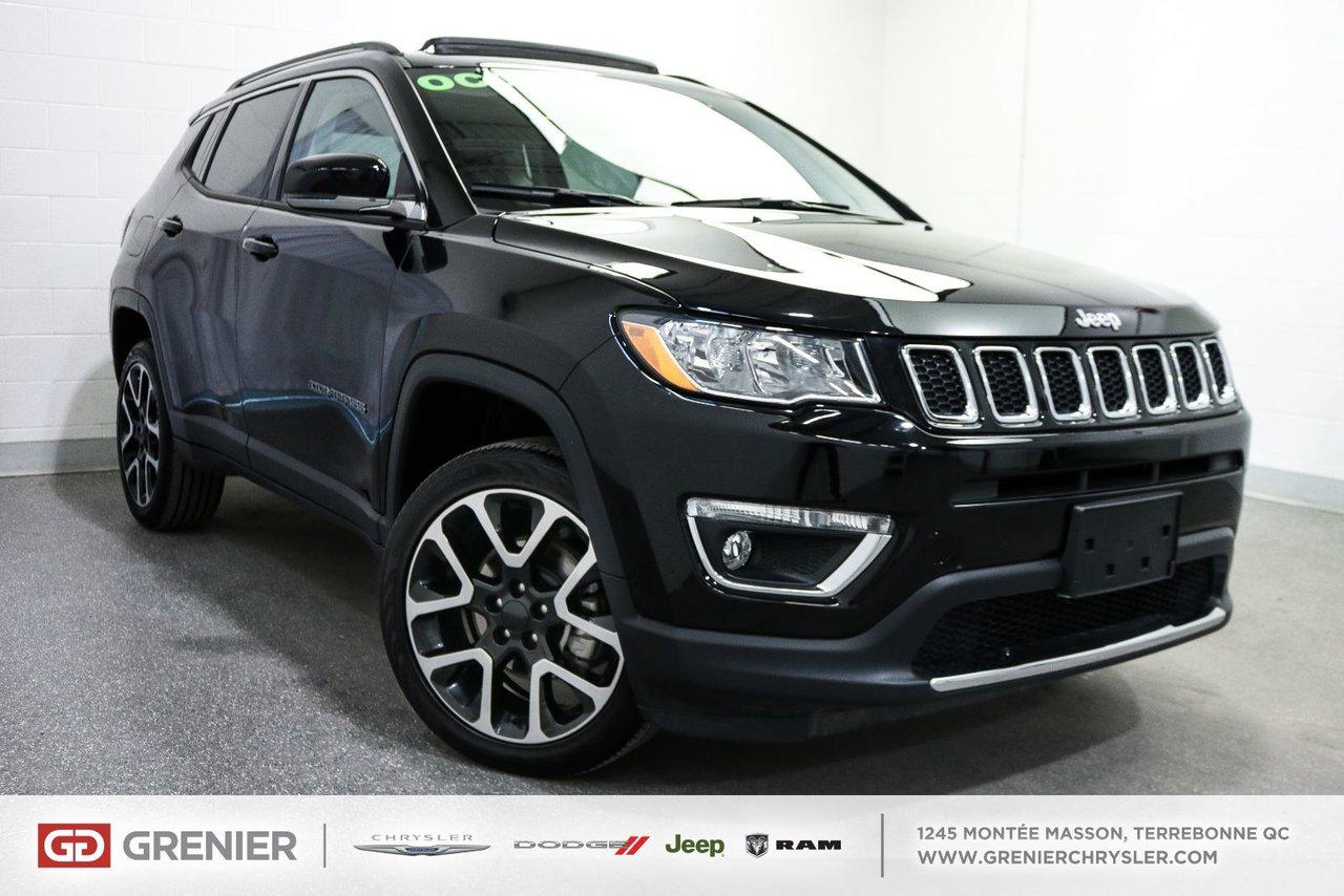2018 Jeep Compass Limited+Toit Pano+Cuir+4X4+8 Pneus Limited+Toit Pa VUS