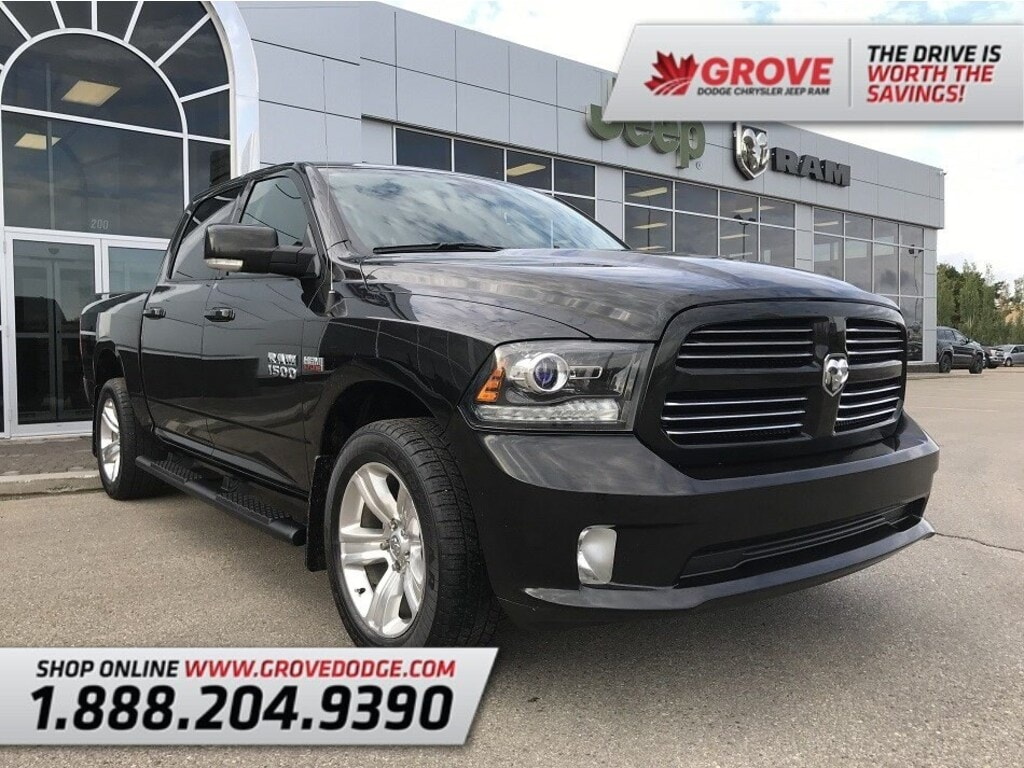 2017 Ram 1500 Sport| 4X4| Leather/Cloth| Bluetooth 4WD Crew Cab 140.5 Sport