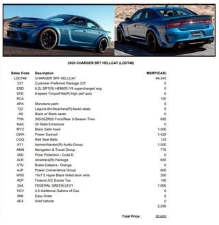 2020 Dodge Charger SRT -- WIDEBODY -- COMING SOON!! Sedan