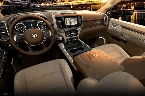2020 Ram 3500 Beige Leather Seats