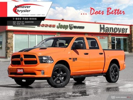 2019 Ram 1500 Classic Express Ignition Orange Truck Crew Cab