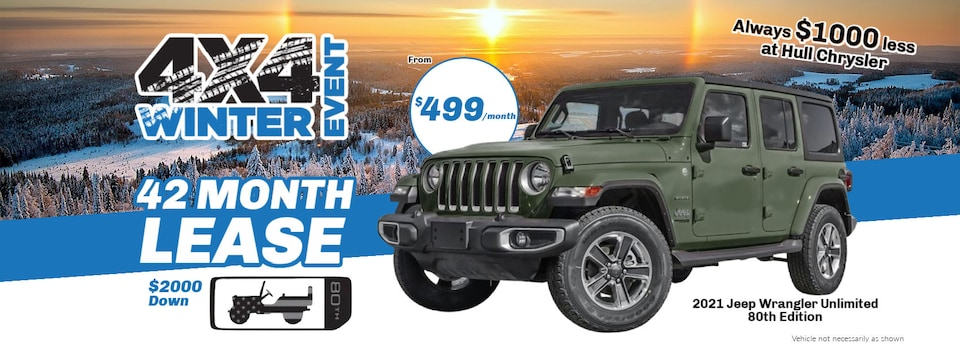 Winter 4x4 Jeep Wrangler Unlimited 80th