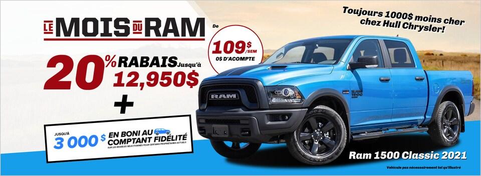 MOIS DU RAM 1500 CLASSIC à Gatineau