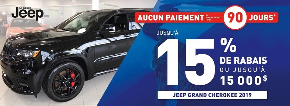 Jeep Grand Cherokee 2019 Gatineau jusqu'à 15% de rabais!