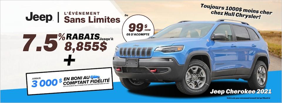 Jeep Sans Limites - Cherokee 2021 à Gatineau