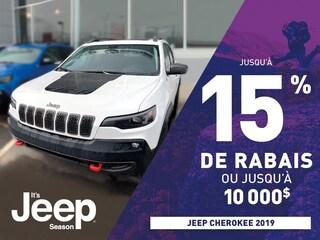 Rabais Jeep Cherokee 2019 à Gatineau