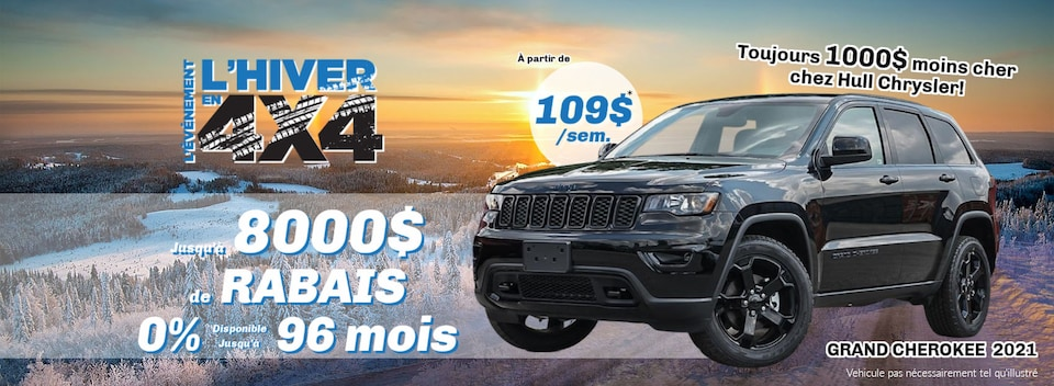HIVER EN 4X4 Jeep Grand Cherokee