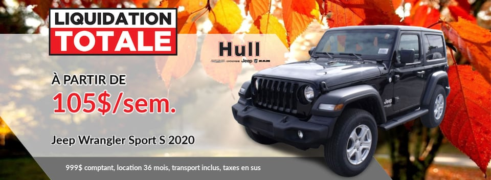 LIQUIDATION TOTALE Jeep Wrangler Sport S